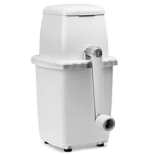 bar@drinkstuff Eiscrusher aus weißem Kunststoff - Cocktail Eiscrusher Manuelle, Eiswürfelzerkleinerer Maschine, Für den Hausgebrauch - Großartig für Mojito Cocktails!