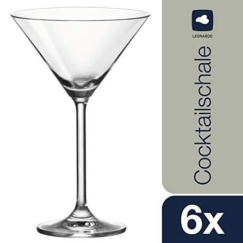 Leonardo Cocktailgläser Daily, Cocktail-Glas im klassischen Stil, Martini-Gläser mit 270-ml Füllmenge, 6-teilig, 063320